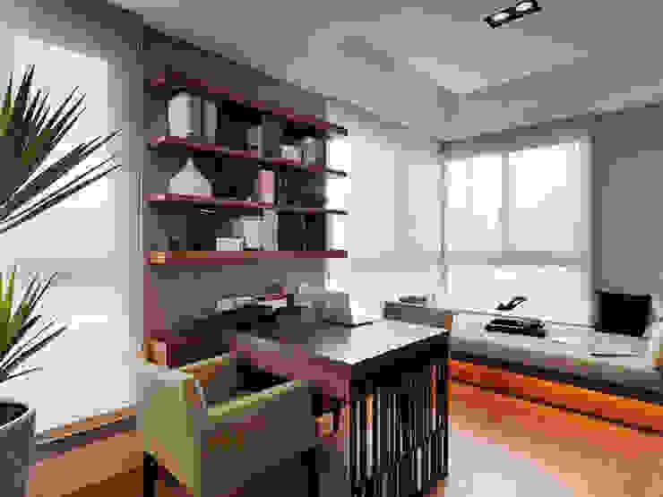 Phòng học/văn phòng phong cách kinh điển bởi 大集國際室內裝修設計工程有限公司 Kinh điển