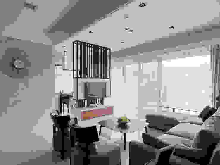 理性格局~感性生活自然蔓延 大集國際室內裝修設計工程有限公司 现代客厅設計點子、靈感 & 圖片