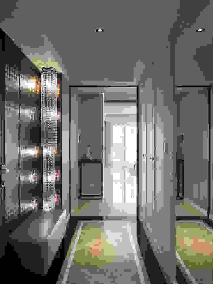 微醺輕古典 用線條勾勒不平凡! 經典風格的走廊,走廊和樓梯 根據 大集國際室內裝修設計工程有限公司 古典風