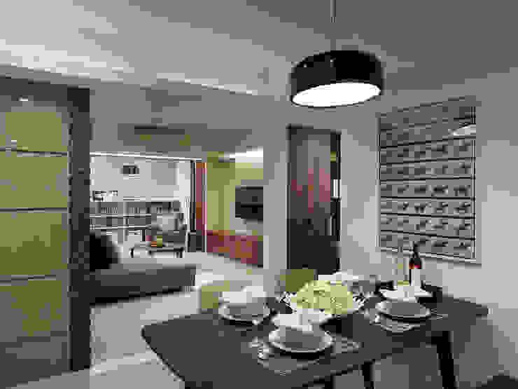 神設計!29坪4房2廳暢快人生 根據 大集國際室內裝修設計工程有限公司 現代風