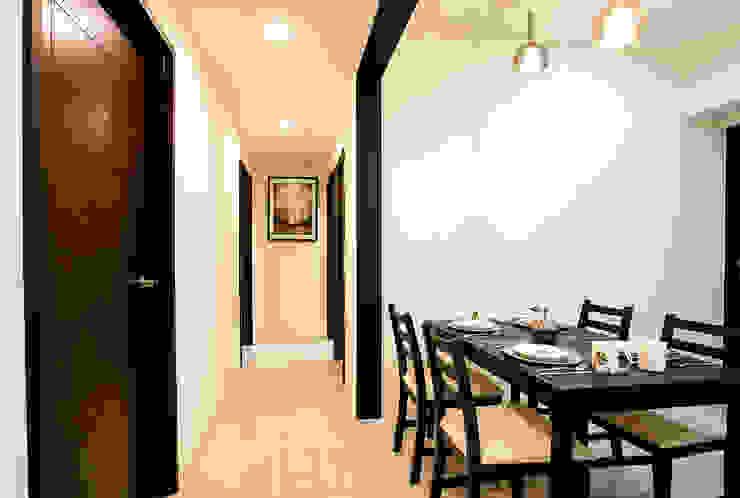 侑信仁和 9A 現代風玄關、走廊與階梯 根據 栩 室內設計 現代風