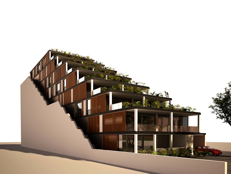 terrace house project Till Manecke:Architect Eclectic style houses