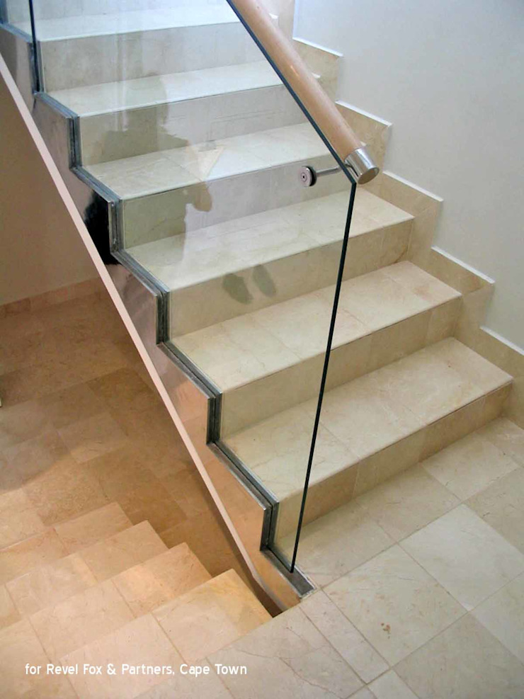 staircase Till Manecke:Architect Eclectic style corridor, hallway & stairs