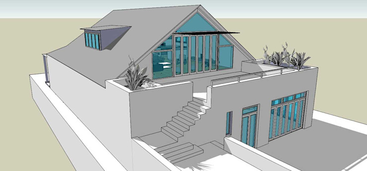 roof conversion Till Manecke:Architect Eclectic style gym