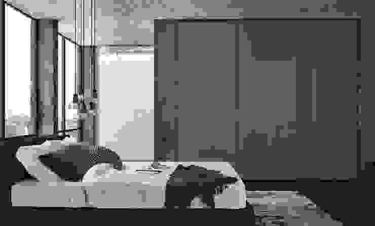 SQUARE SLIDING DOOR WARDROBES de IQ Furniture Moderno