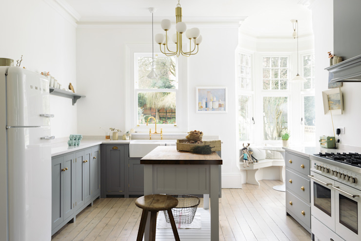 The Park Kitchen Nottingham by deVOL Dapur Klasik Oleh deVOL Kitchens Klasik Kayu Wood effect
