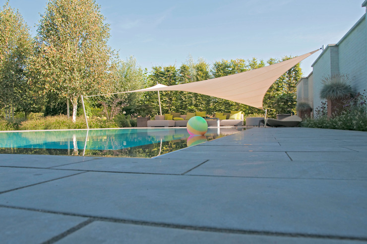 overloopzwembad Landelijke tuinen van Tuintechnisch Bureau Smeulders Landelijk