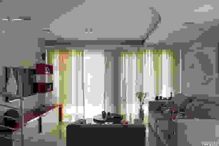 Salas / recibidores de estilo  por Virna Carvalho Arquiteta