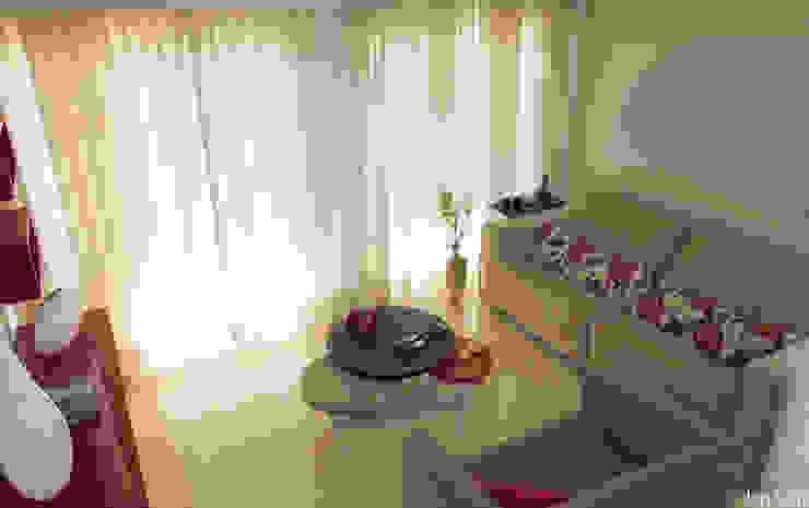 Salas de estilo  por Virna Carvalho Arquiteta,