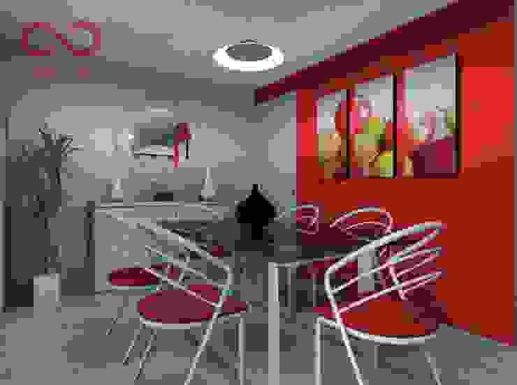 Sala homify ComedorAccesorios y decoración Rojo