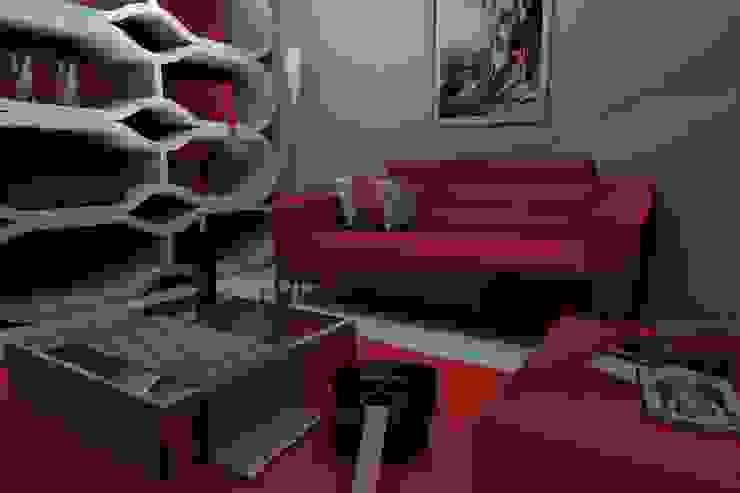 Sala homify Salas/RecibidoresAccesorios y decoración Rojo