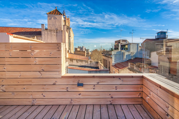 CASA FRANCESC D'ASSÍS Balcones y terrazas de estilo escandinavo de Lara Pujol | Interiorismo & Proyectos de diseño Escandinavo