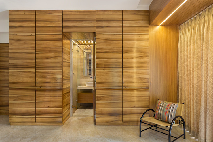 Master Bedroom The design house Modern bathroom Wood Brown