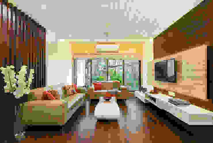 Salas de estilo moderno de The design house Moderno Madera Acabado en madera