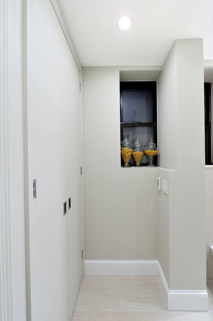 Renovation on 82nd Street Modern Corridor, Hallway and Staircase by KBR Design and Build Modern