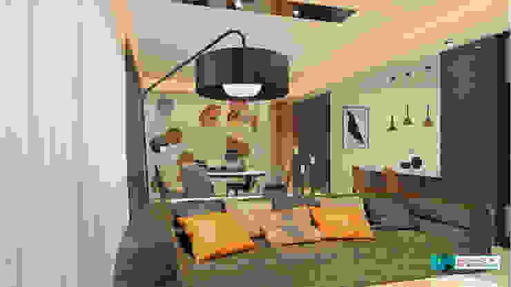 Moderne Wohnzimmer von Axis Group Of Interior Design Modern