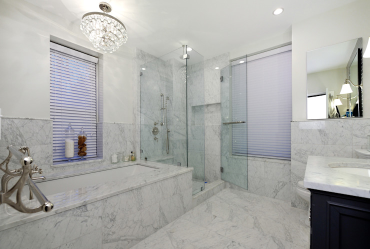 Renovation on 82nd Street Modern Bathroom by KBR Design and Build Modern