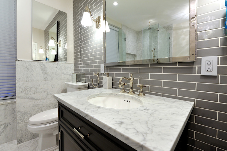 Renovation on 82nd Street KBR Design and Build Modern Bathroom