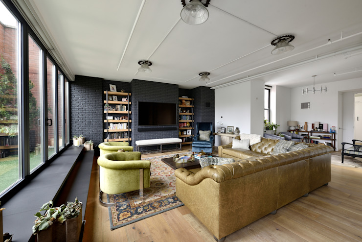 Renovation at 7 Wooster Modern Living Room by KBR Design and Build Modern