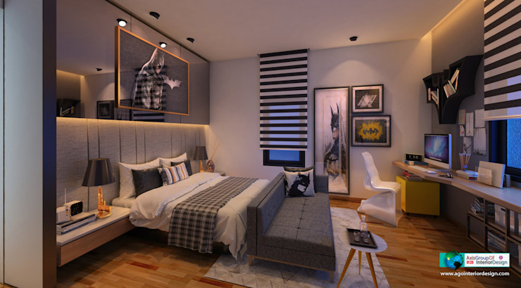 Dormitorios de estilo  por Axis Group Of Interior Design, Moderno