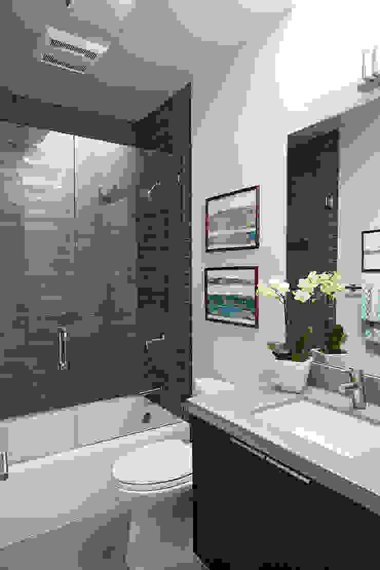 Glass Wall House Modern Bathroom by Klopf Architecture Modern