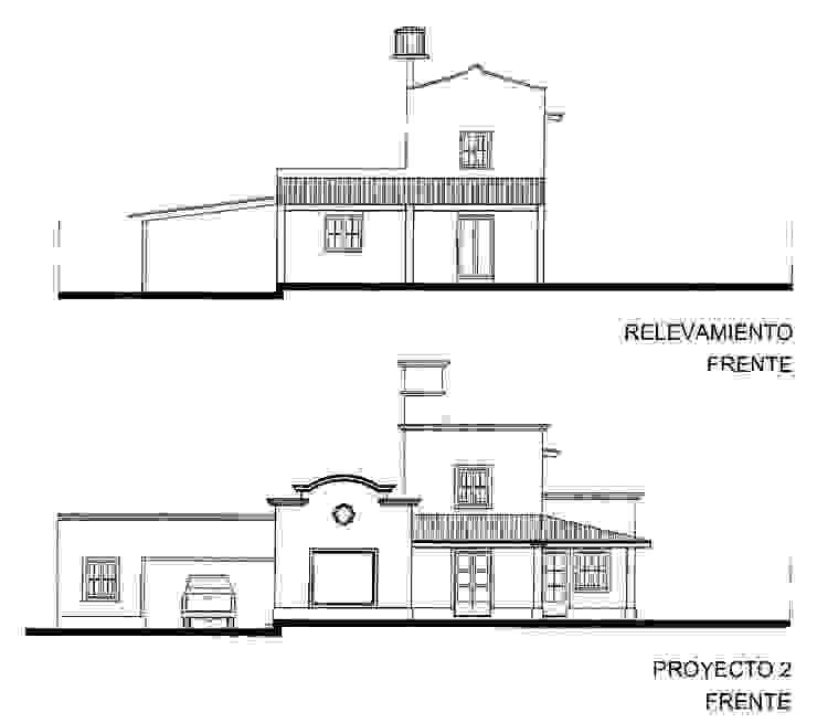 Proyecto de remodelación y ampliación de Vivienda unifamiliar:  de estilo colonial por Valy,Colonial