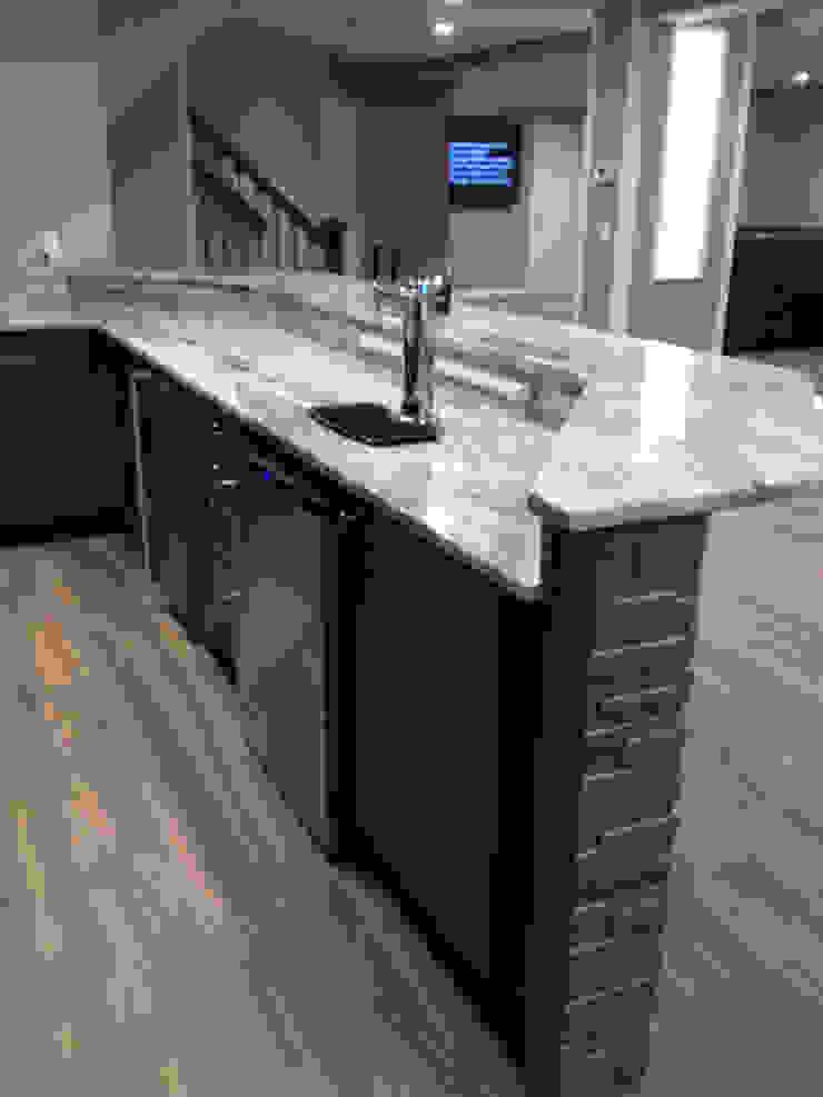 Basking Ridge Basement Bar ! Classic style wine cellar by Kitchen Krafter Design/Remodel Showroom Classic