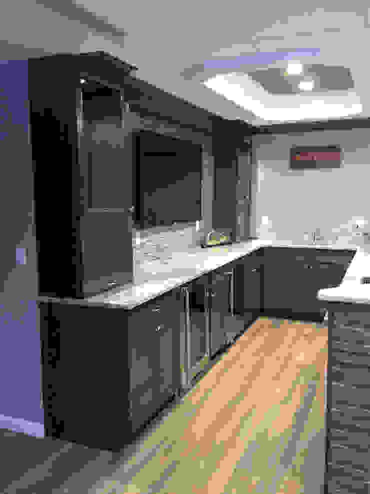 Basking Ridge Basemet Bar! Classic style wine cellar by Kitchen Krafter Design/Remodel Showroom Classic
