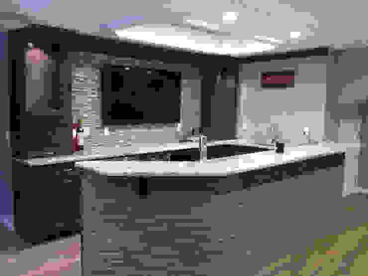 Basking Ridge Basement Bar! Classic style wine cellar by Kitchen Krafter Design/Remodel Showroom Classic
