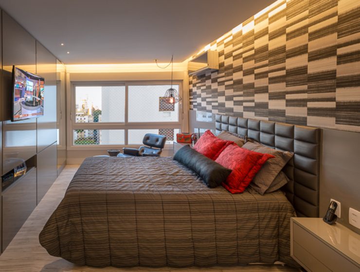 Kamar Tidur Modern Oleh Quadrilha Design Arquitetura Modern