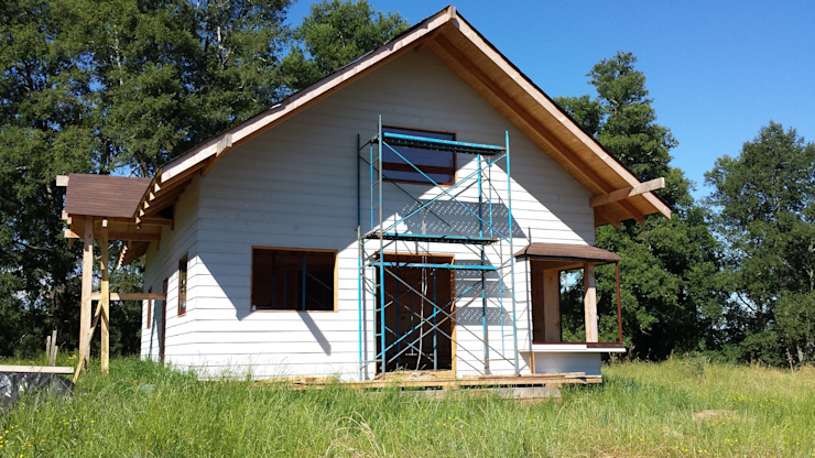 Rustic style houses by Arquitectura y Construcción Chinquel Rustic Wood Wood effect