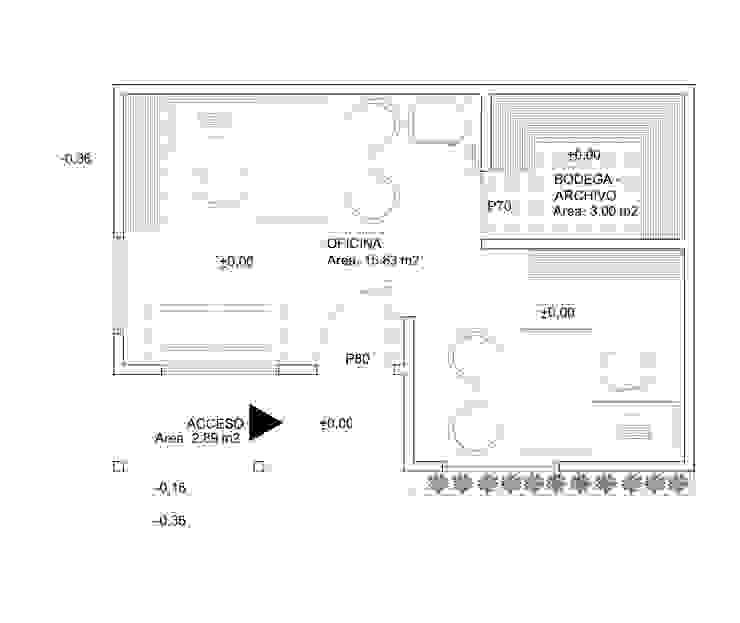 Planta Oficina de Arquitectura y Construcción Chinquel