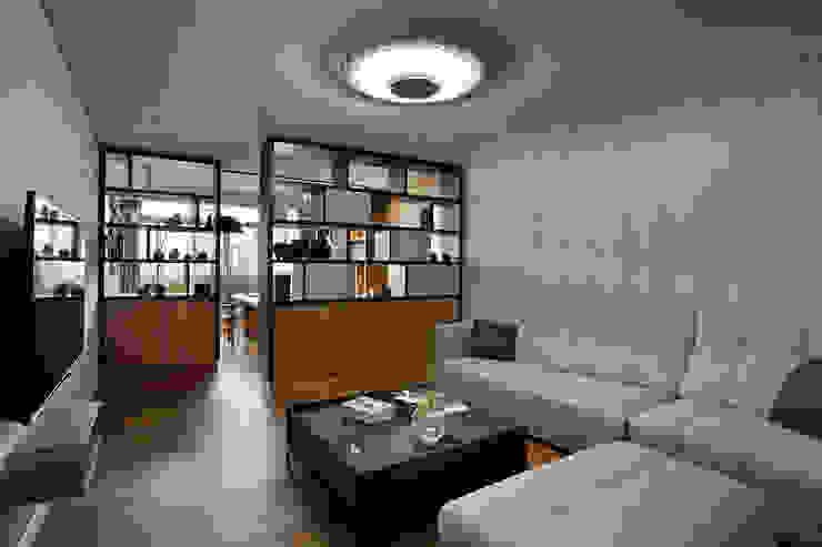 信美室內裝修 Ruang Keluarga Modern White