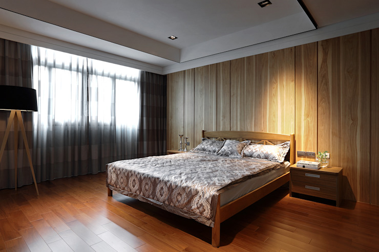 信美室內裝修 Dormitorios asiáticos Acabado en madera