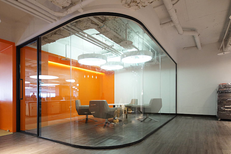 單玻隔間系統 (SE系列隔間) 根據 信美室內裝修 現代風