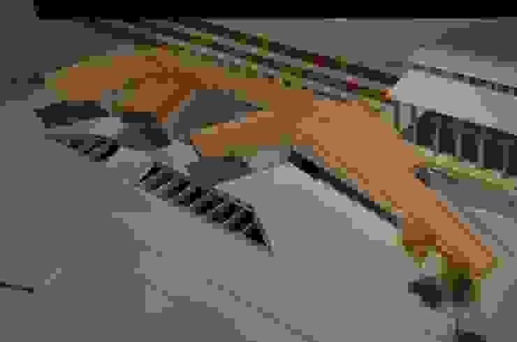 Estación Intermodal en barrio estación Temuco Salas multimedia de estilo moderno de Studio Himmer Moderno