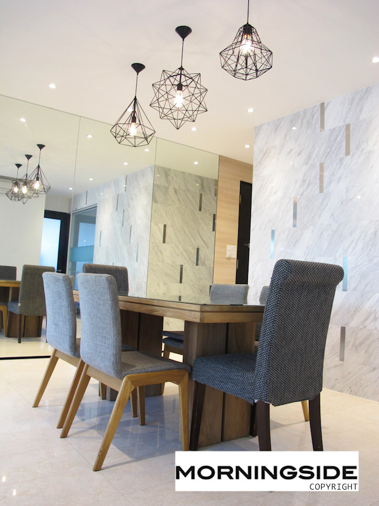 THOMSON ROAD PENTHOUSE CONDO UNIT Modern dining room by MORNINGSIDE PTE LTD Modern