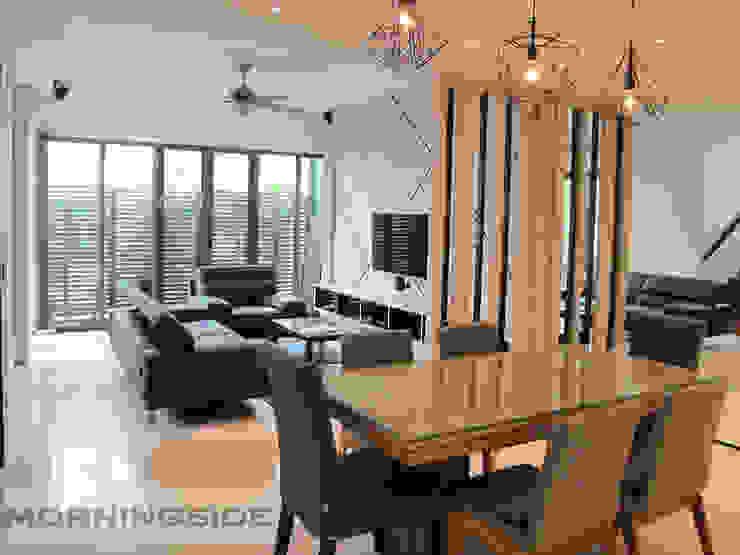 THOMSON ROAD PENTHOUSE CONDO UNIT Modern living room by MORNINGSIDE PTE LTD Modern