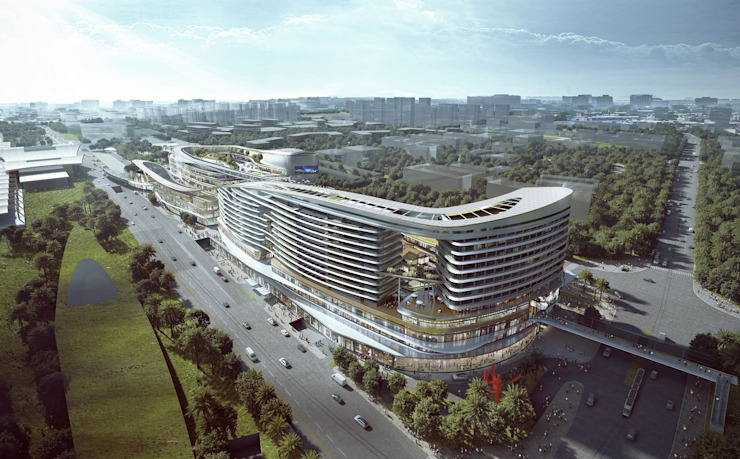 Sanya Integrated Commercial and Transportation Hub, Sanya, China by Architecture by Aedas