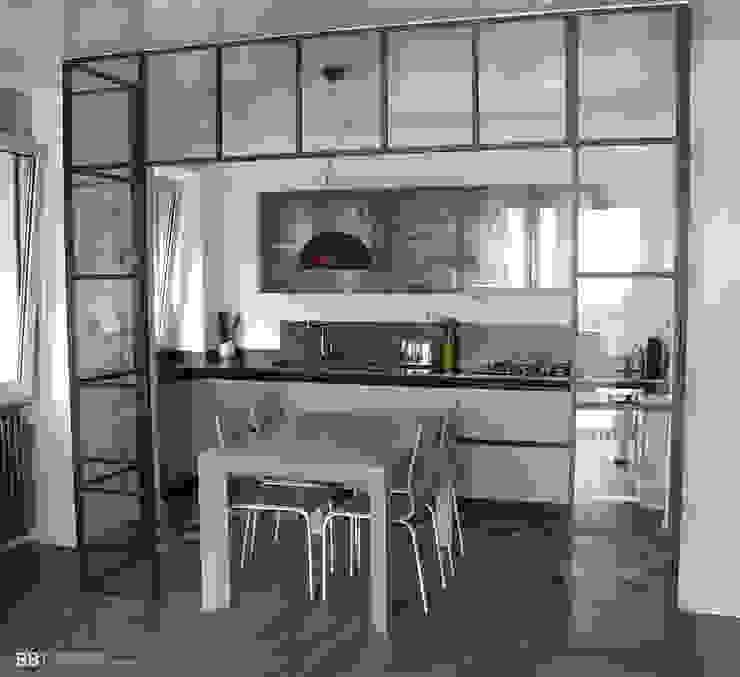 Portale in vetro e ferro di BB1 LABORATORIO DI ARCHITETTURA & DESIGN Industrial