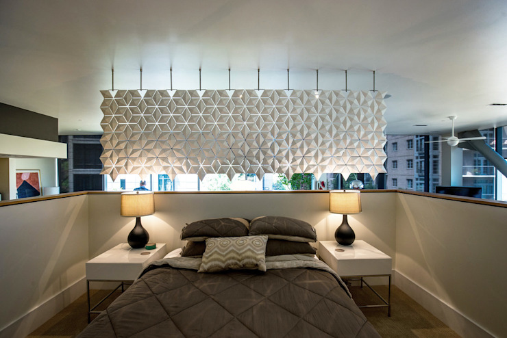 BREATHTAKING BEDROOM AND LIVING ROOM DIVIDER od Bloomming Nowoczesny Plastik