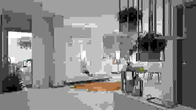 Pasillos y vestíbulos de estilo  por 4Ponto7, Moderno