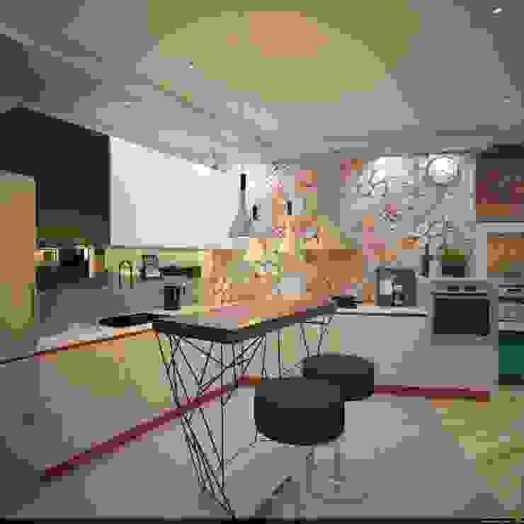 Cocinas de estilo industrial de Burkov Studio Industrial
