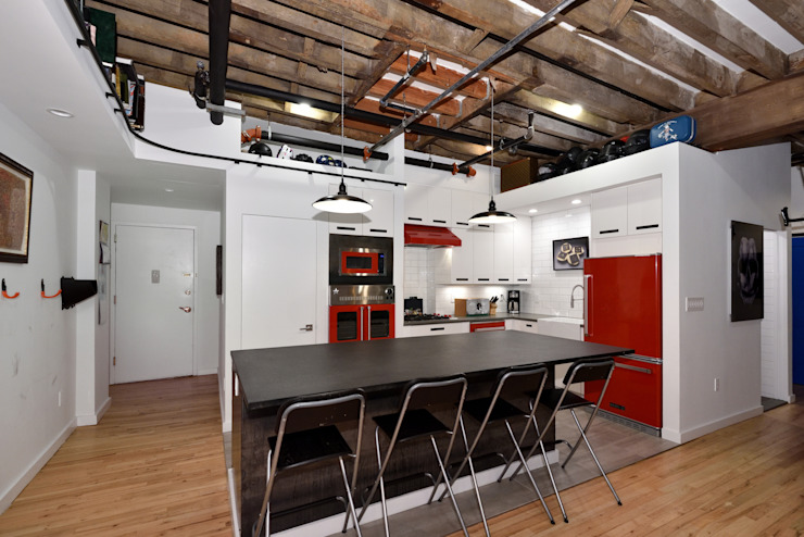 Renovation at 29 Tiffany Industrial style kitchen by KBR Design and Build Industrial