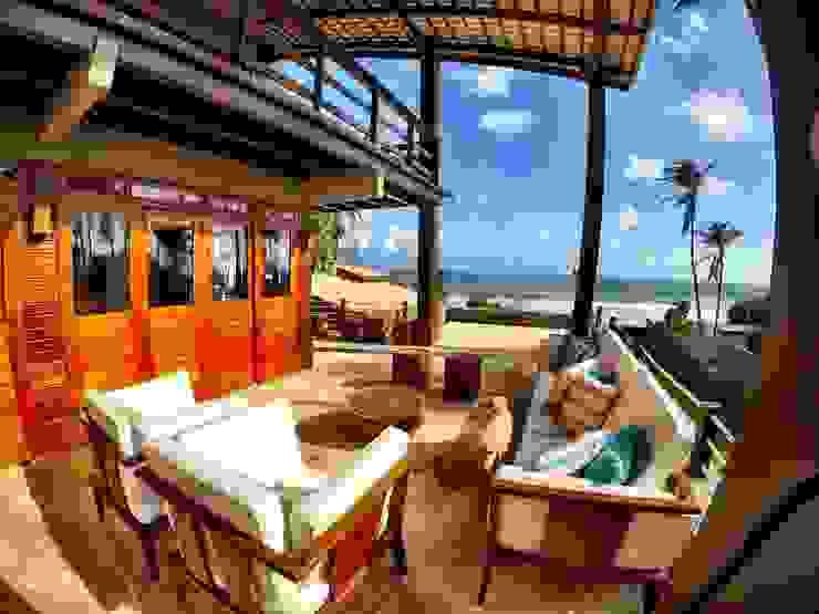 Casas de estilo tropical de DC PROJETOS Tropical