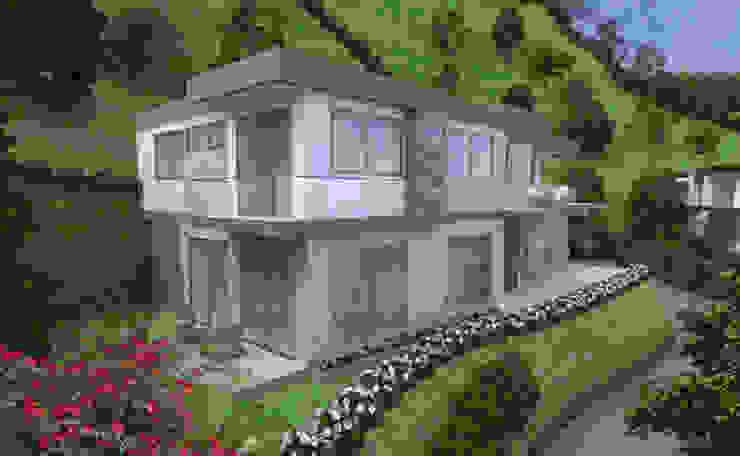 Fachada Casa 1 Parcelación Las Brisas Casas modernas de Viewport - Servicio de renderizado Moderno Ladrillos