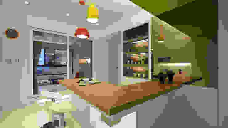 Salas de jantar modernas por 瓦悅設計有限公司 Moderno