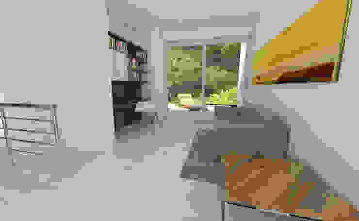 Estudio Estudios y despachos de estilo moderno de Viewport - Servicio de renderizado Moderno Madera Acabado en madera