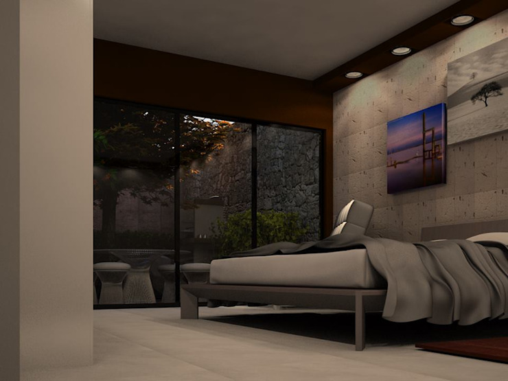 Main Bedroom - Casa Reza Dormitorios modernos de JIMDR Arquitectos Moderno