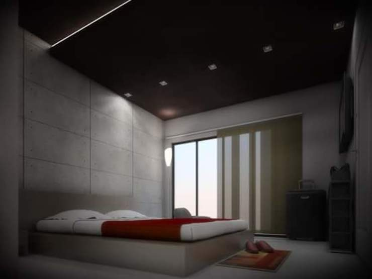 Guest Bedroom - Casa Reza Dormitorios modernos de JIMDR Arquitectos Moderno